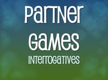 Spanish Interrogatives Partner Games