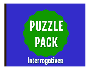 Spanish Interrogatives Puzzle Pack