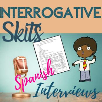 Spanish Interrogatives Question Words Interview Skit