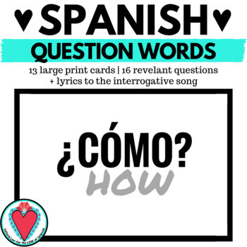 Spanish Interrogatives (Question Words) Mini Posters