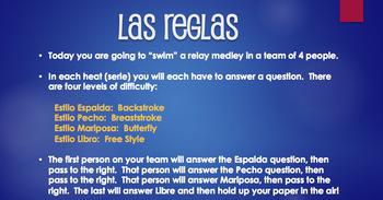 Spanish Interrogatives Relay Race