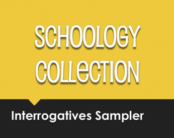 Spanish Interrogatives Schoology Collection Sampler