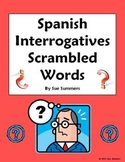 Spanish Interrogatives Scrambled Words - Spanish Question Words