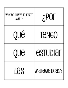 Spanish Interrogatives Sentence Mixer