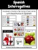 Spanish Interrogatives Vocabulary Posters & Flashcards wit