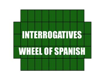 Spanish Interrogatives Wheel of Spanish