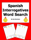 Spanish Interrogatives Word Search Puzzle Worksheet