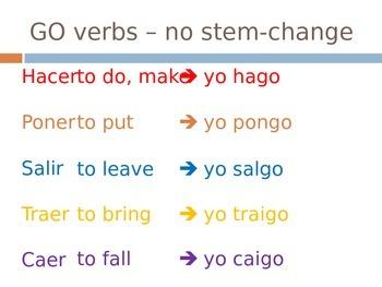 Spanish: Introduction to Irregular Yo Verbs