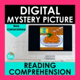 Spanish Introductions Reading Comprehension Digital Mystery Picture | Pixel Art