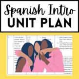 Spanish Introductory Unit Plan