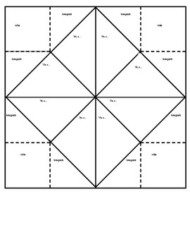 Spanish Ir+A Fortune Teller Template