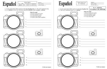 Spanish Ir A Infinitive and Querer Infinitive Camera Sketch and Sentences