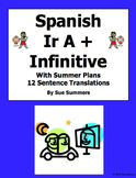 Spanish Ir A + Infinitive with Summer Plans 12 Sentence Translations