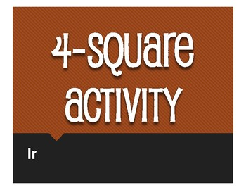 Spanish Ir Four Square Activity