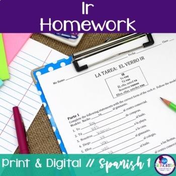 Spanish Ir Homework