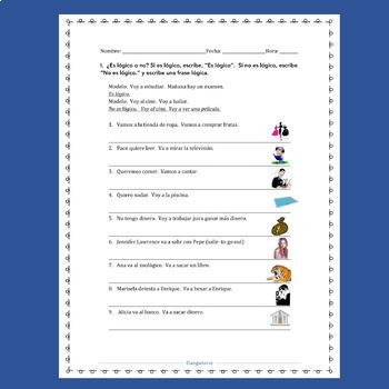 Spanish Ir Interactive Notebook Activities and Student Handouts