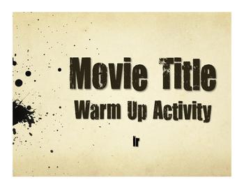 Spanish Ir Movie Titles