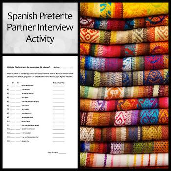 Spanish Preterite Partner Interview Activity