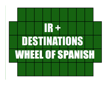 Spanish Ir Wheel of Spanish