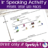 Spanish Ir and Places Speaking Activity