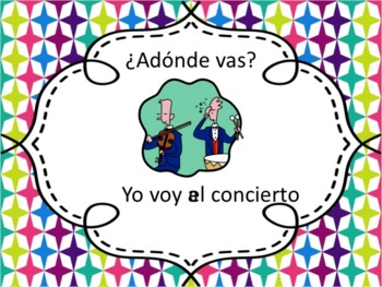 Spanish Ir with Places in School Powerpoint
