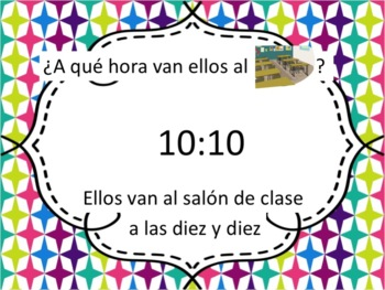 Spanish Ir with School Places, Classes, & Time Powerpoint