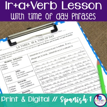 Spanish Ir+a+Verb with Time of Day Phrases Lesson