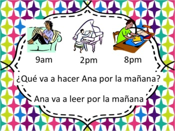 Spanish Ir+a+Verb with Time of Day Phrases Powerpoint