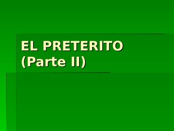 Spanish Irregular AR verbs in the Preterite