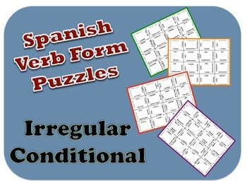 Spanish Irregular Conditional Verb Form Puzzle Activity