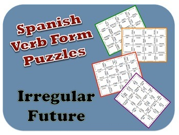 Spanish Irregular Future Verb Form Puzzle Activity
