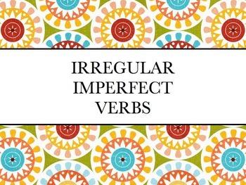 Spanish Irregular Imperfect PowerPoint Slideshow Presentation