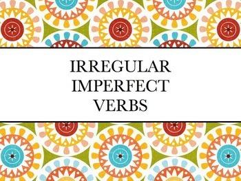 Spanish Irregular Imperfect Verbs Keynote Slideshow Presentation for Mac