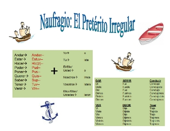 Spanish Irregular Preterite Activity (Naufragio)
