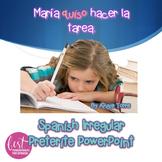 Spanish Irregular Preterite PowerPoint Distance Learning