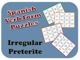 Spanish Irregular Preterite Puzzle Activity