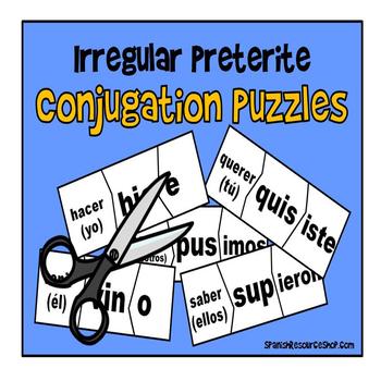 Spanish Irregular Preterite Puzzles
