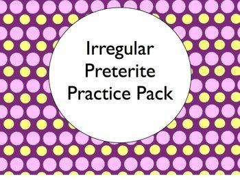 Spanish Irregular Preterite Verbs BUNDLE- Slideshows, Worksheets Pack