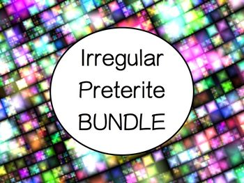 Spanish Irregular Preterite Verbs BUNDLE- Slideshows, Work