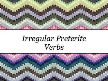 Spanish Irregular Preterite Verbs Keynote Slideshow Presentation for Mac