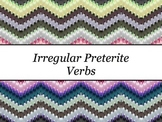 Spanish Irregular Preterite Verbs PowerPoint Slideshow Presentation