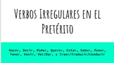 Spanish Irregular Preterite Verbs Reference Guide for Students