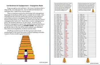 Spanish Irregular Verbs Bundle 5 Worksheets, Pair Work Activity, Reference