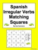 Spanish Irregular Verbs (Conjugated) Matching Squares Puzzle