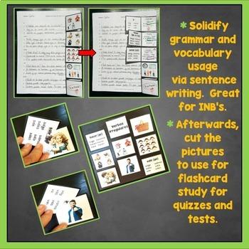 Spanish Irregular Verbs Interactive Notebook Trifold Flashcards, Present Tense
