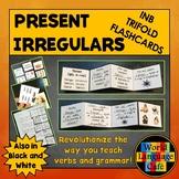 Spanish Irregular Verbs Flashcards, Interactive Notebook T