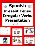 Spanish Irregular Verbs PowerPoint Presentation Present Tense