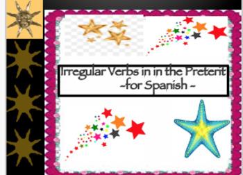 Spanish Irregular Verbs in the Preterit