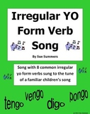 Spanish Irregular Yo Form Verb Song