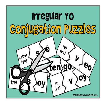 Spanish Irregular Yo Verb Puzzles